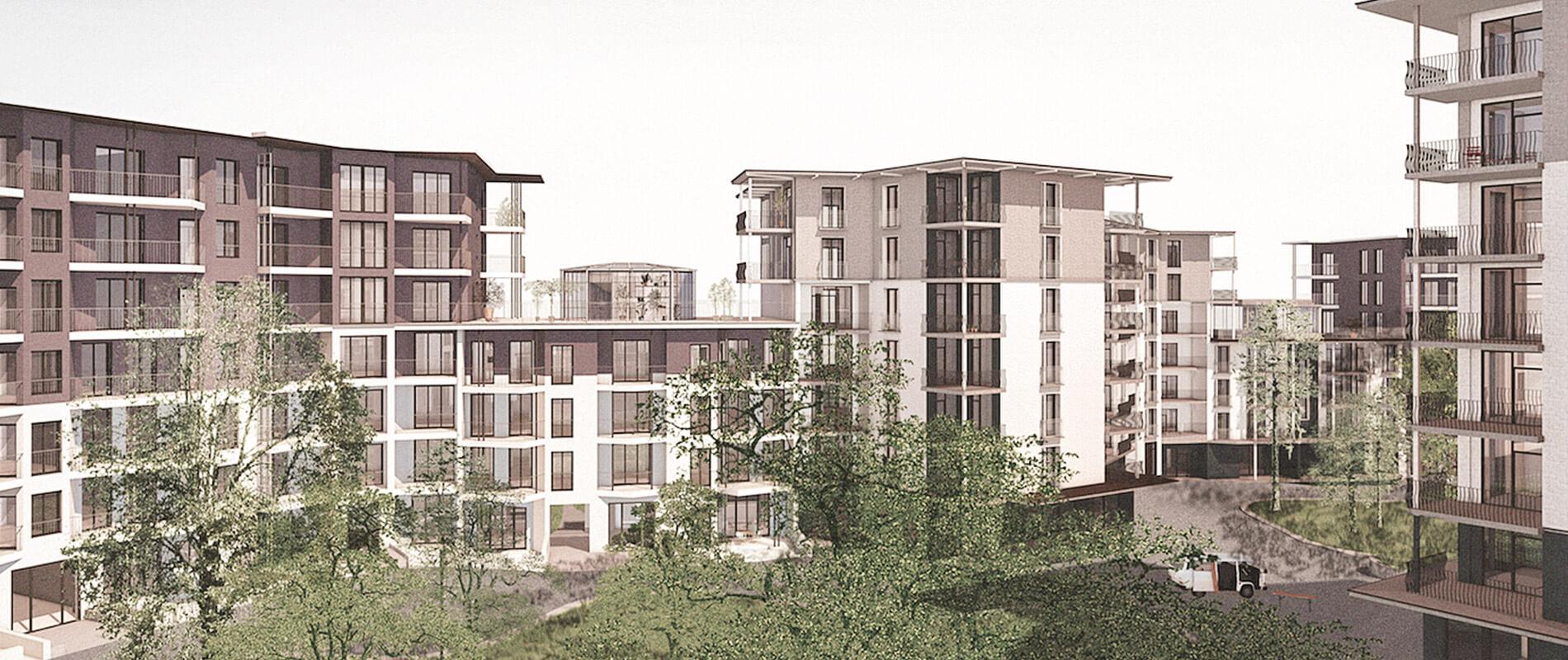 Neubauprojekt Gartensiedlung Frohburg | Zürich | Referenz |Ettinger Partner