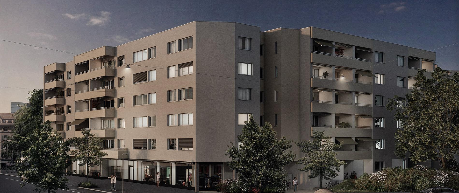 Sanierung 7 Mehrfamilienhäuser Kanzleistrasse | Referenz | Ettinger Partner