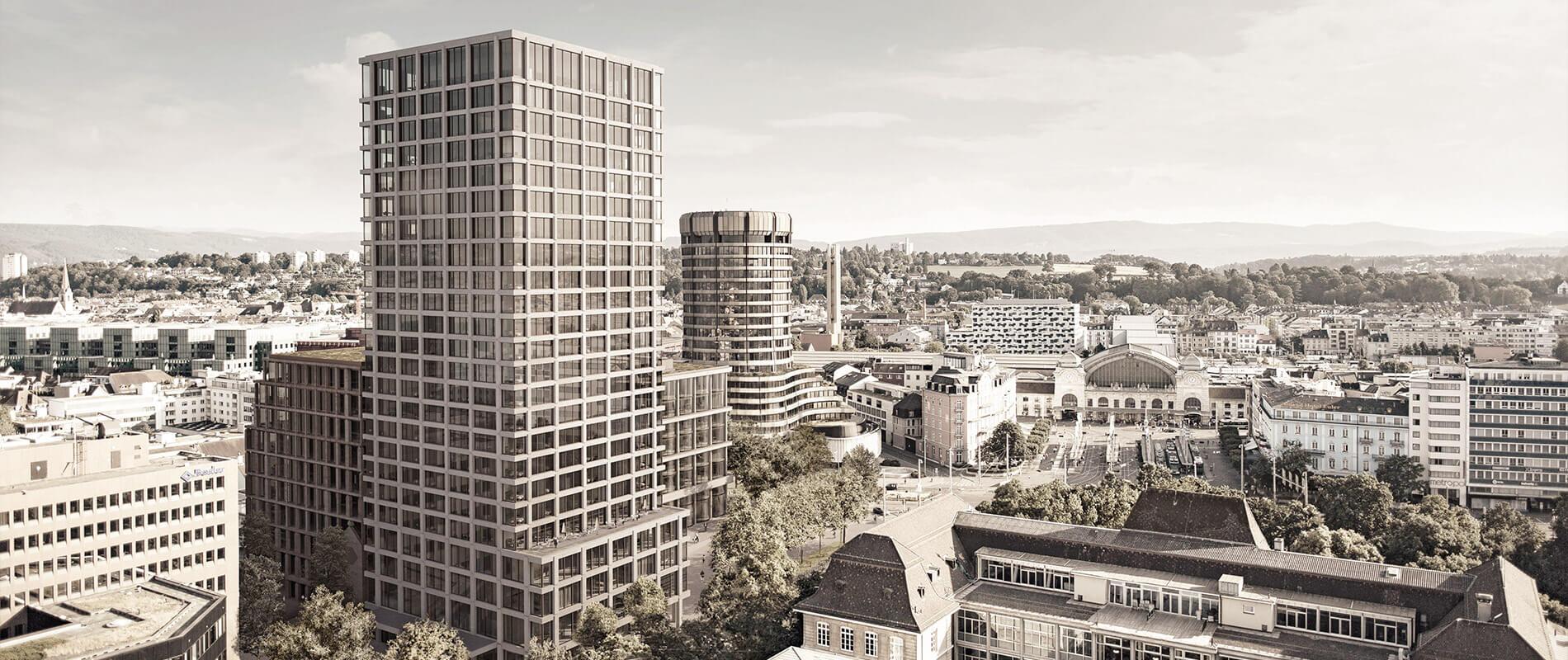 Baloise Park |Turm von Miller & Maranta und Matteo Thun |Referenz |Ettinger Partner